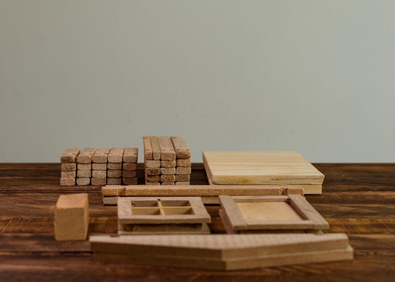 Casas juguete de madera desarmables
